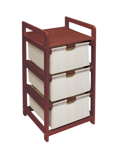Best Buy! Badger Basket Company Three Drawer Hamper/Storage Unit in Cherry