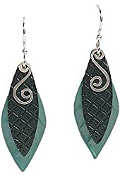 Jody Coyote Earrings SMP900-01 Eden Collection silver green