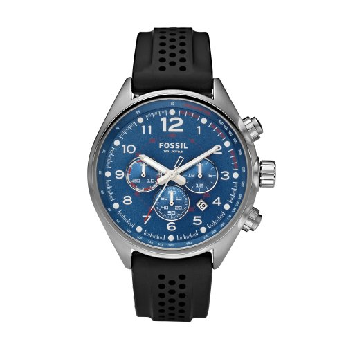 Fossil Men's Blue/Black Chronograph Sport Watch - Ch2694