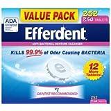 Efferdent Anti-Bacterial Denture Odor Cleanser (252 Tablets)