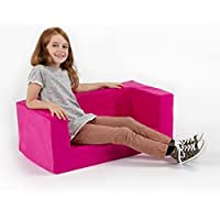 Children's Comfy Foam 2 Seater Mini Sofa. Soft, Colourful, Comfortable & Lightweight with a Removeable Cover. Ideal for Kids Room, Nursery, Living Space or Play Room. from Matching Bedroom Sets