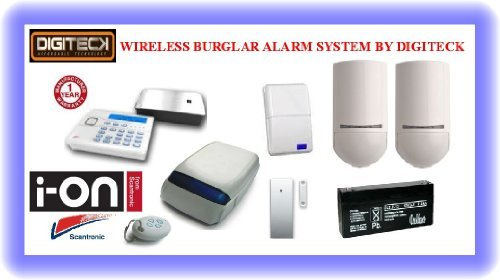Tc99- Scantronic Ion-16 Wireless Intruder Alert Pet Friendly Burglar Alarm Sy... front-983614