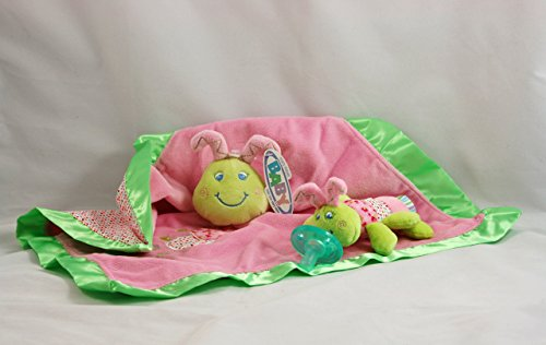 Mary Meyer Cutsie Caterpillar Baby Blanket and Wubbanub Pacifier Gift Set