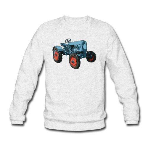 Spreadshirt, Trecker Illustration, Men's Sweatshirt, salt & pepper, M