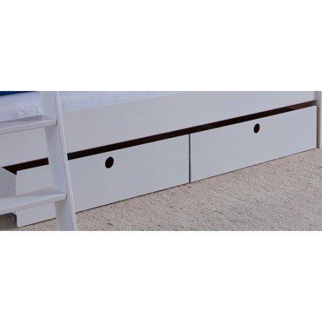 Alfred & Compagnie - Paire de tiroirs blancs pour Emile et Leonard