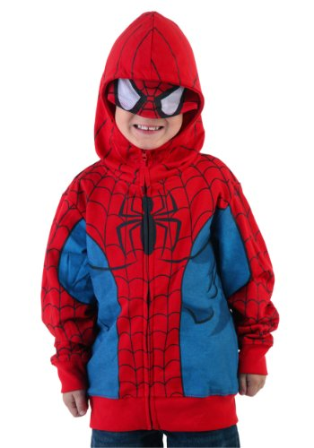 Spider-Man Costume -- Marvel Hoodie Zipper-Fleece Youth/Juvenile Sweatshirt