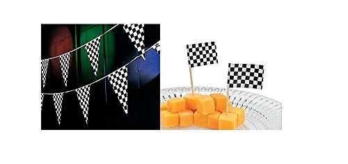 Race Car Checkered Flag Party Decorations 100 Ft Racing Flag