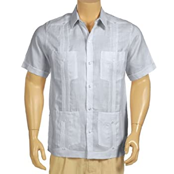 Guayabera shirt 100% linen, short sleeve