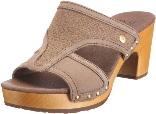 Ugg Australia Women's W Issa Mosaic Fawn Slides Sandal 3147 3.5 UK