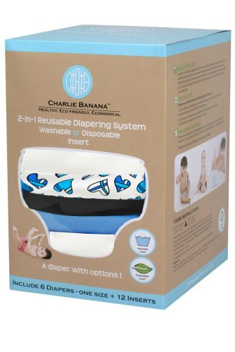 Charlie Banana® 2-In-1 Reusable Diapers - 6 Pack - William front-896151