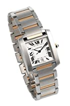 Cartier Tank Watch - Cartier Men's Tank Francaise Automatic Stainless Steel and 18K Gold Watch #W51005Q4