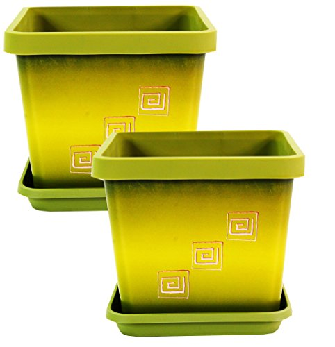 set-of-2-coloured-square-plant-pots-with-saucer-17cm-67-inch-olive-green-greek
