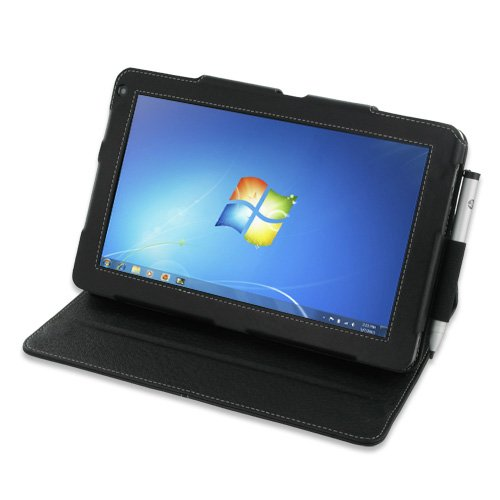 PDair BX2 Black Leather Case for HP Slate 500 Tablet PC