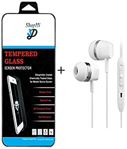 ShopHi Tempered Glass Screen Protector for Samsung Note with Free In-Ear Earphones
