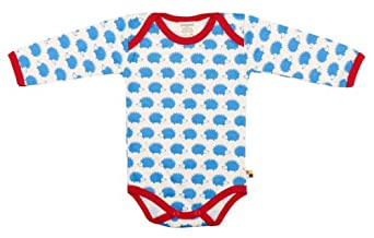 loud + proud Baby Boys' Without Collar Long - regular Romper -  Blue - 0-3 Months