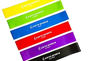 Resistance Bands Set - 6 Exercise Loop Bands plus Workout E-book Manual and Lifetime Guarantee