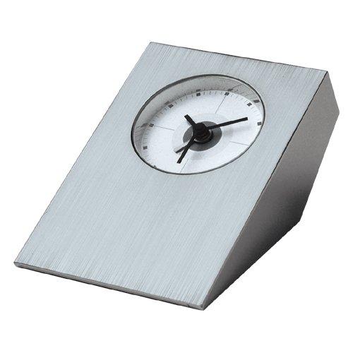 Visol Products vac608 Tracker Brushed Nickel Desk Clock