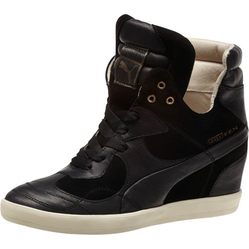 Puma Alexander McQueen Ofeya Women Sneakers Wedge Black 355924-01 (SIZE: 6.5)
