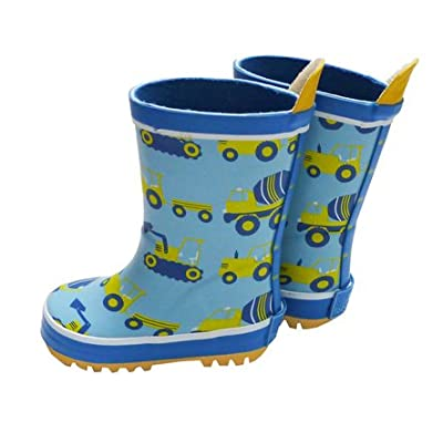 Toby Tiger Boys Digger Wellington Boots with Cotton Linings