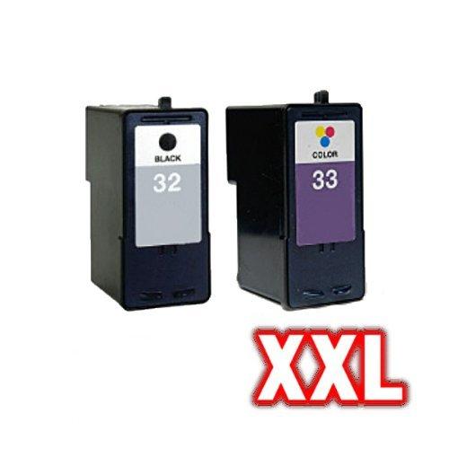 Kompatibles Tintenpatronen Sparset für Lexmark NO 32 + 33 P6250 P6260 P6270 P6280 P6290 P6350 P6356 P900 Series P910 P915 X3300 Series No.32+33