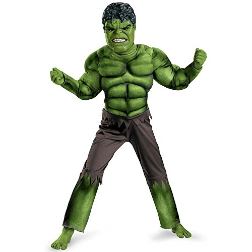 The Avengers: Hulk Movie Muscle Kids Costume
