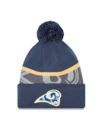 nfl-st-louis-rams-gold-collection-team-color-knit-beanie-one-size-fits-all-blue-gray