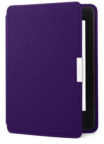 Amazon - Étui en cuir pour Kindle Paperwhite, Violet - compatible avec toutes les générations de Kindle Paperwhite