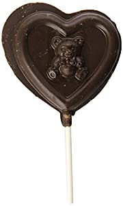 Indie Candy Dark Chocolate Lollipop, Heart, 12 Count