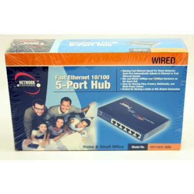 Wired Fast Ethernet 10/100 5-Port Hub