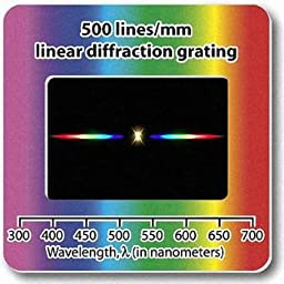 Rainbow Symphony Diffraction Gratings Slides - Linear 500 Line/millimeters, Package of 10