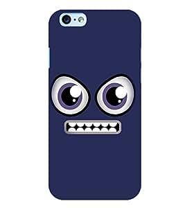 PrintVisa Cute Cartoon Grin Smiley 3D Hard Polycarbonate Designer Back Case Cover for Apple iPhone 6 Plus