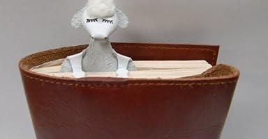 牛革ブックマーク (ハンドメイド) 羊-3