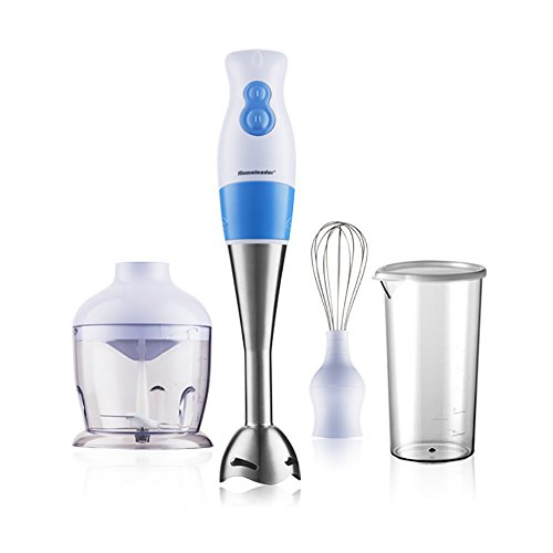 Homeleader 3 in 1 Hand Blender, 220-watt Stainless Steel Hand Mixer, Whisk Attachment and Food Chopper, K39/020