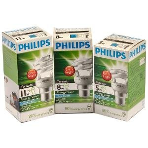 Set Of 3 Nos 5W 8W 11W Philips Power Saver Lamp