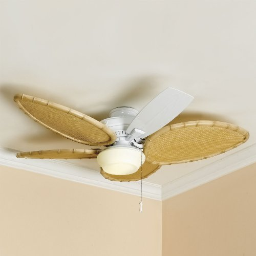 BrylaneHome Bamboo Ceiling Fan Blade Covers