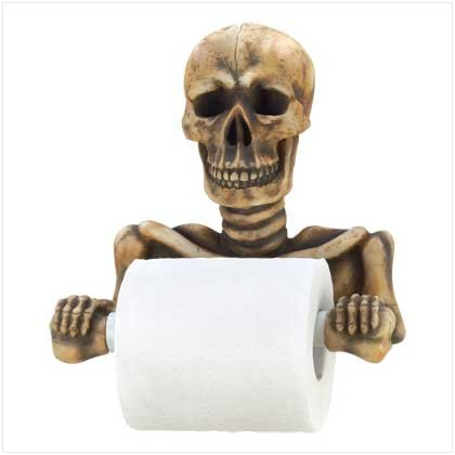 Halloween Toilet Paper Holder Skeleton Grinning