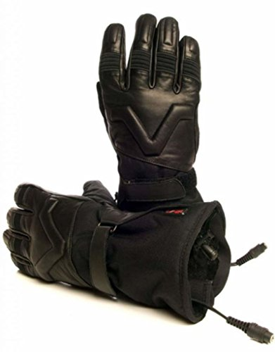 Volt Resistance 12V Heated Motorcycle Leather Gloves (Medium)