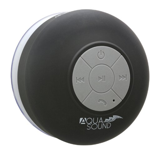 "Aduro Aquasound Wsp20 ""Lifetime Warranty"" Waterproof Shower Bluetooth Portable Speaker (Black)"