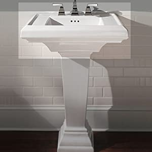 ... Pedestal Sink Top with 8-Inch Faucet Spacing, Black - - Amazon.com