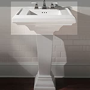 ... 24-Inch Pedestal Sink Top with 8-Inch Faucet Spacing, Black - - Amazon