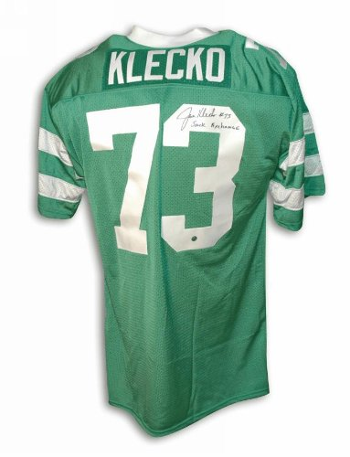 Autographed Joe Klecko New York Jets Green Throwback Jersey Inscribed Sack Exchange at Amazon.com