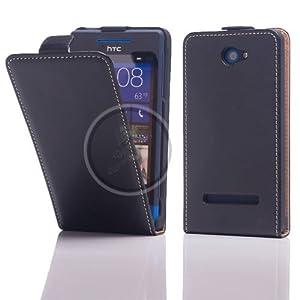 FUNNYGSM - HOUSSE ETUI VERTICAL NOIR POUR HTC WINDOWS PHONE 8S