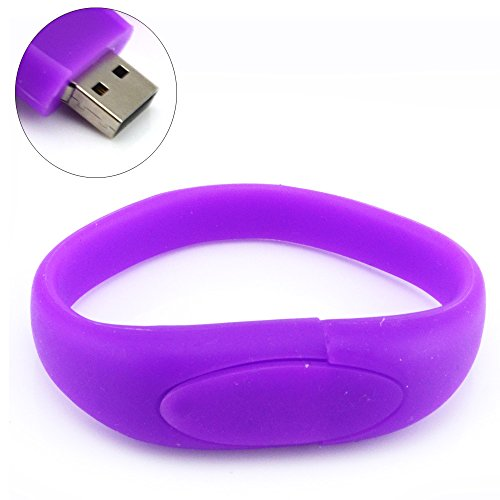 Fives® mit Mode Handgelenk geformte 8GB USB Speicherstick mode violett