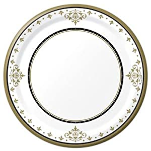 Stafford Gold 10-1/4-inch Paper Plates
