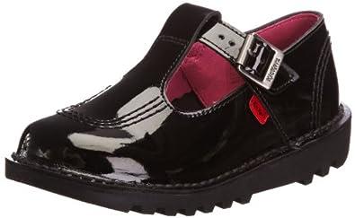 Kickers Kick Lo Aztec Patent Patl IF Black School Shoe 1-11619 5 UK Toddler