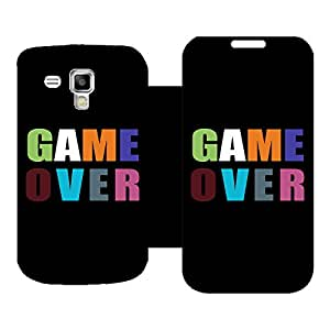 Skintice Designer Flip Cover with Vinyl wrap-around for Samsung Galaxy S Duos 2 S7582, Design - Game Over