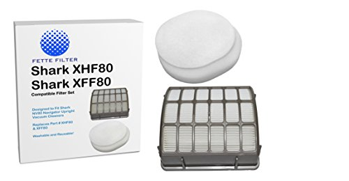 Shark NV80 HEPA Filter and Foam & Filter Kit - Part # XHF80 & XFF80 (Shark Filters Xff80 compare prices)