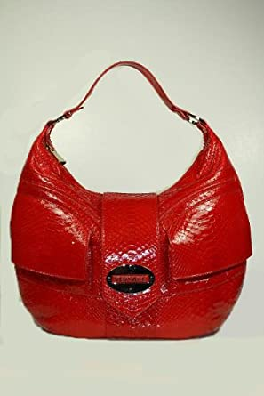 Versace Handbags Red Python Leather DBFC090 CLEARANCE