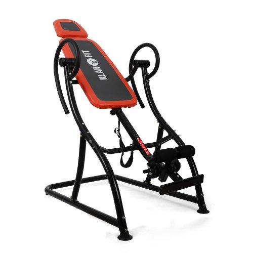 Klarfit Relax Zone Pro panca a inversione Hang up schiena palestra fitness e bodybuilding (max 150 KG, 20 livelli di regolazione, imbottita)