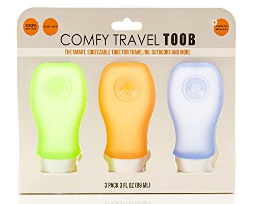 COMFY TRAVEL Silicone Bottles Set of 3 x 3 oz.,